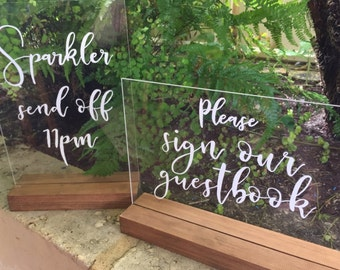 Cards & Gifts Perspex Acrylic Love Quote / Wedding sign