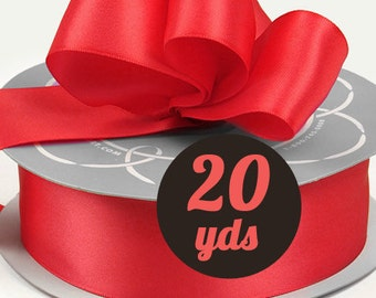 "Satin Persimmon Coral Ribbon - 7/8"" wide at 20 yards"