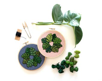 Out of Retirement! - May Monstera Contemporary Embroidery PDF by Sarah K. Benning  #skbdiy Pattern Program - Instant Download