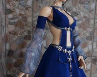 Game girl dress set for BJD Fairyland Feeple 65 dolls