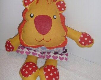 Lion Toy , Lion Softie, Lion Plush, Toy Lion, Lion Room Decor, Valentine Gift, Gift for Kid, Animal Softie, Fabric Lion