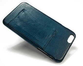 """Iphone 6S Leather Case Washed Leather Aged with credit card holder for 4.7"""" & Plus 5.5"""" CHOOSE the COLOUR"""