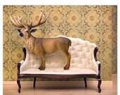 30% OFF SALE Deer print, woodland decor, deer art, antlers - Barely Domestic