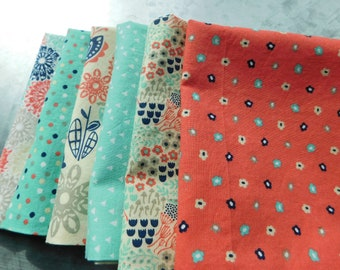 NEW ITEM:  Set of 6 double-sided napkins--Mix not Match---perfect size for casual meals---great gift!