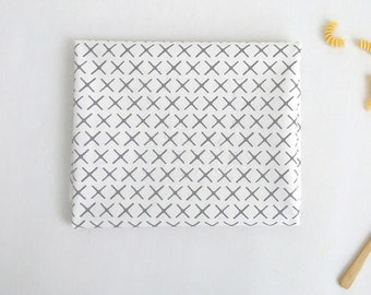 Laminated Cotton Fabric - Simple X in Grey - By the Yard - 94370