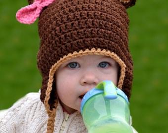 Crochet Pattern for Resale - Baby Bear Hat