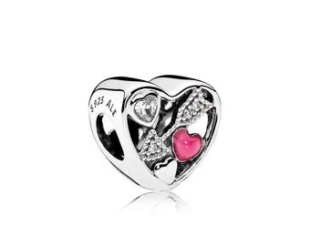 Authentic Pandora  Love Struck Enamel CZ Bead 792039CZ