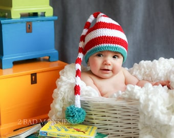 Baby hat, Dr Seuss Baby Hat, newborn hat, Toddler boy hat, Toddler hat - baby Halloween costume, Photography props
