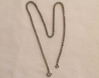 Vintage Open Front Rhinestone Necklace