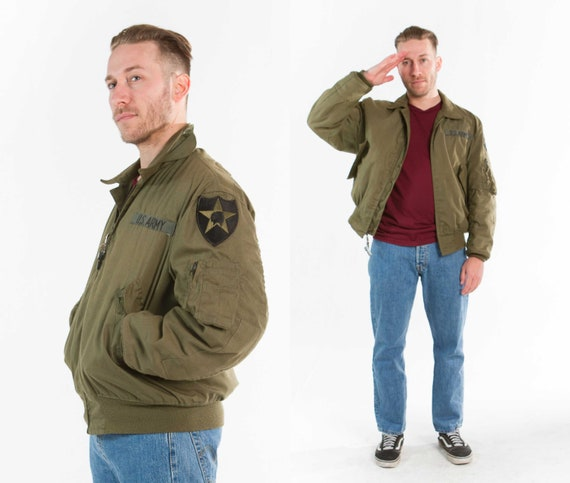 Bomber Size 1980s Airforce Jacket L CSwqdxq
