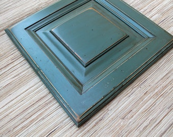 Reclaimed Wood - Create your Own Art - old cabinet door - art supply - wall art - sea blue - wall decor