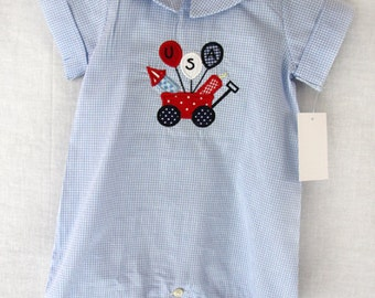 291861 - Fourth of July Outfit - Fourth July Romper - 4th July Outfit - Baby Boy Clothes - 4th July Baby - July 4th Childrens Clothing