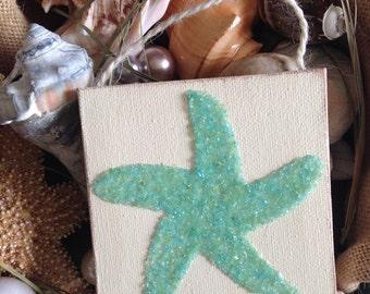 Starfish Ornament, Starfish Art, Starfish, Starfish Canvas, Coastal Art, Coastal Decor