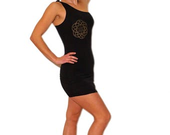 ONE SIDE DRESS - Hippie Top, Hippie Maxi Dress, Festival Clothing, Long Dress, Strappy Dress, Boho Maxi Dress, Mandala Dress
