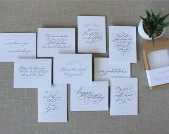 Greeting Card Pack No. 2 // pack of 10 cards - with envelopes