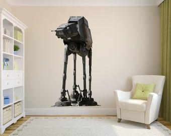At-Act walker Decal, Star Wars Art Decor, Star Wars Decal, At-Act Decal, Fathead Mural, Star Wars Kid's Room Designs, At-act art, Star Wars