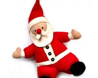 Vintage Plush Stuffed Santa, North American Bear Company K Kringle 1996 Santa, Fleece Navidad Stuff Santa Doll, Fleece Toy Santa Collectible