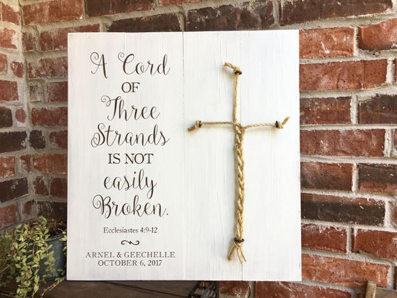 a cord of three strands sign wedding ceremony sign a cord of