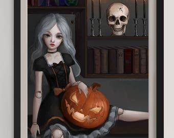 """Halloween -  Original Art Print (A3/11.7""""x16.5"""")"""