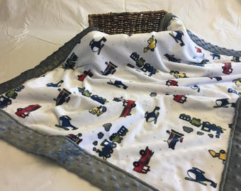 On the Move Minky Blanket
