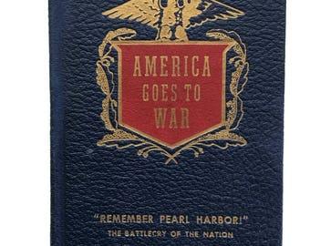 American Goes to War Dec. 7 1941 Columbia Educational Books 1941 Remember Pearl Harbor Hardback Book
