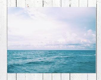Ocean Art Prints   Ocean Wall Decor   Ocean Photography   Ocean Wall Decor   Turquoise Sea, Endless Blue Horizon   Ocean Wall Art Pictures