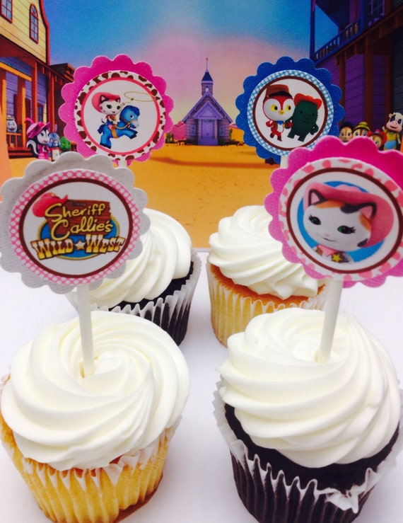 sheriff callie cupcakes