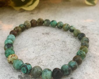 Turquoise Gemstone And Lava Diffuser Bracelet, Aromatherapy Jewelry, Chakra jewelry, Healing Properties, Natural Remedy