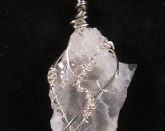 l Quartz Natural Crystal Pendant #66