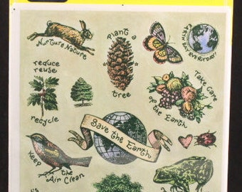 Vintage Ambassador Hallmark 4 Sheets. Save the Earth. Sealed