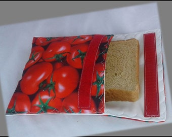 Sandwich Bag / Ecological Bag / Snack Bag / Snack Bag / Reusable Bag / Zero Waste / MOTIF: Tomatos