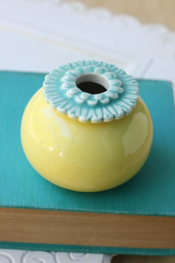 small poppy bud vase