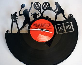 Vinyl Record Clock (Tennis)