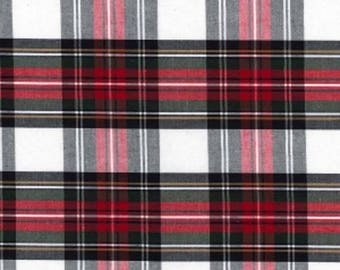 Plaid white and Red - 50 cm