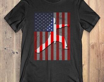 Karate T-Shirt Gift: American Flag