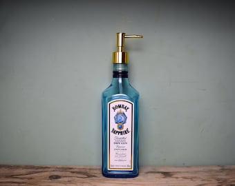 Bombay Sapphire Gin Bottle Soap Dispenser, Upcylced Gift