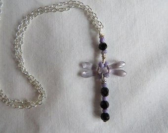 """18"""" Dragonfly Necklace on Silver Chain, Necklace,  Dragonfly"""