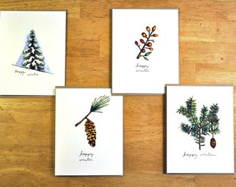 Happy Winter Notecard Set of 8