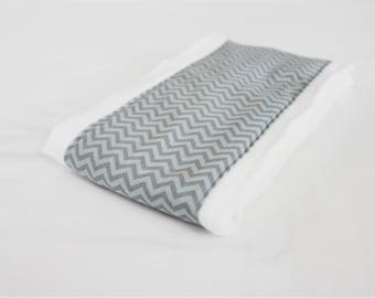 Grey Chevron Baby Burp Cloth - two-tone grey