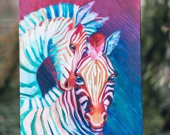 Colored zebras