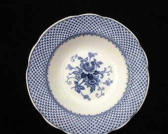 Edwardian Bowl | Crescent China | Kempton | Blue and White Bowl | George Jones & Sons | 10 inches | Display Bowl