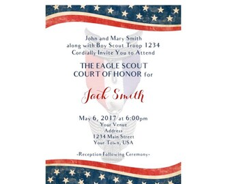 Eagle Scout Court of Honor Invitation - Digital File