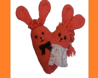 Crochet Wedding Favors, Wedding decorations, Crochet toy, Wedding gift, Wedding souvenirs, Crochet hearts, Amigurumi souvenirs, Crochet gift