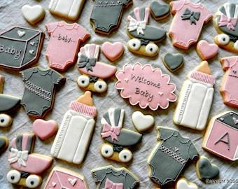 Baby Shower Cookie Platter - 41 cookies (#2348)