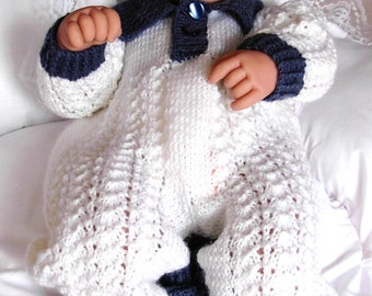 "Boy's pdf Knitting Pattern 3 pce Set in all 3 sizes - Prem Baby 16/18"" Doll, Newborn Baby 18/20"" Doll, 0-3 Mth Baby 20/22"" Doll - HARRY"