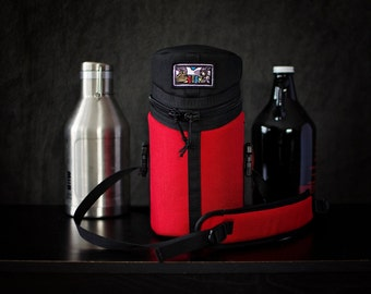 Single Growler Bag. Hand Crafted, Insulated, Bike Mountable & ready to keep your Beer Cold!
