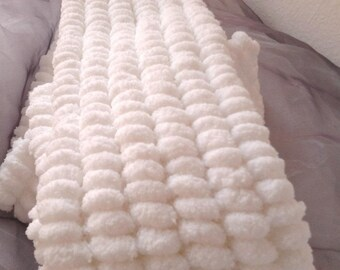 Handmade - Double wrap white tassels