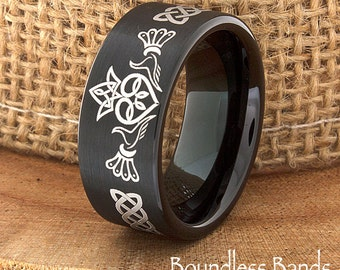 Tungsten Ring Tungsten Wedding Ring Mens Womens Wedding
