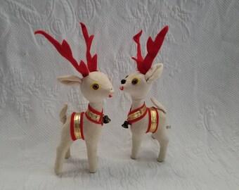 Vintage Velvet Christmas Deer