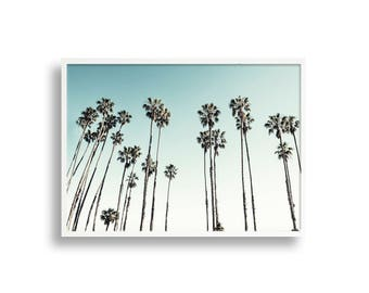 California Palm Tree Print, Photographic Landscape Wall Art Print